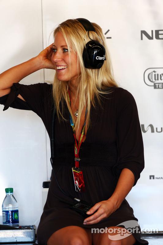 Jennifer Becks, fidanzata di Adrian Sutil, Sauber