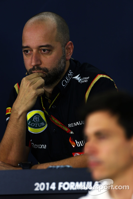 Gerard Lopez, Lotus F1 Team Principal alla conferenza stampa FIA