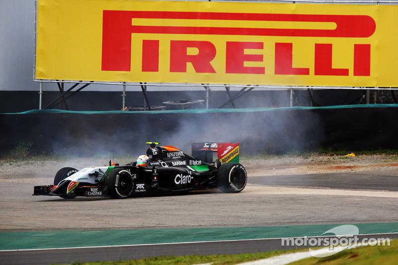 Felipe Nasr, Williams FW36, girando