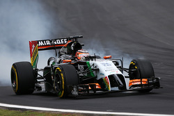 Nico Hulkenberg, Sahara Force India F1 VJM07 con un bloqueo