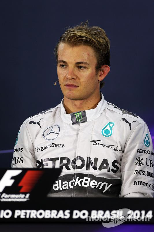 Nico Rosberg, da Mercedes AMG F1, na Conferência de Imprensa da FIA