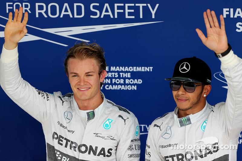 Nico Rosberg, Mercedes AMG F1 Team y Lewis Hamilton, Mercedes AMG F1 Team 08