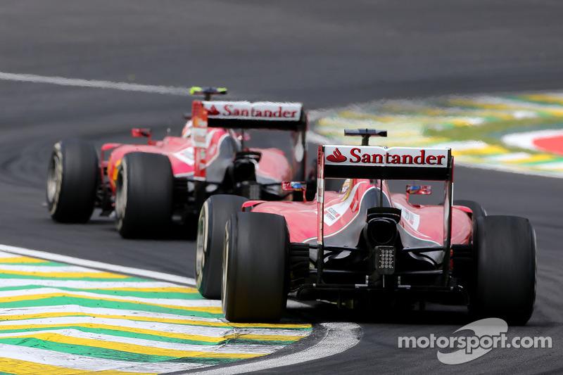 Fernando Alonso, Scuderia Ferrari and Kimi Raikkonen, Scuderia Ferrari