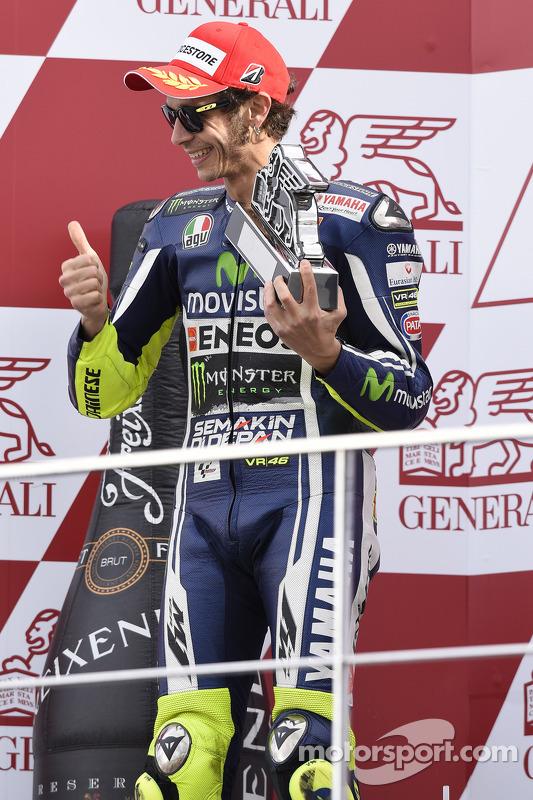 segundo lugar de Valenteno Rossi, Yamaha Factory  Racing