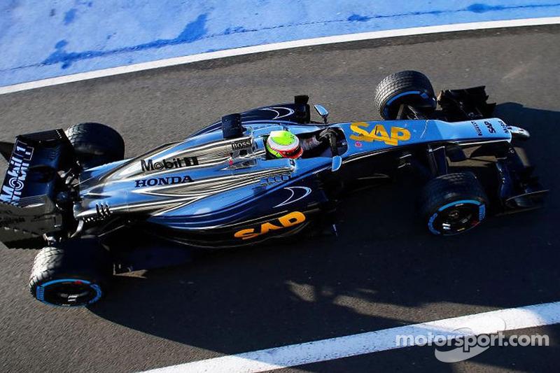 Oliver Turvey McLaren Honda testi