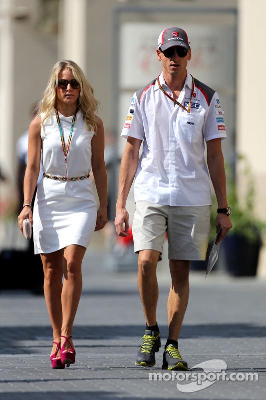Adrian Sutil, Sauber F1 Team, mit Freundin Jennifer Becks
