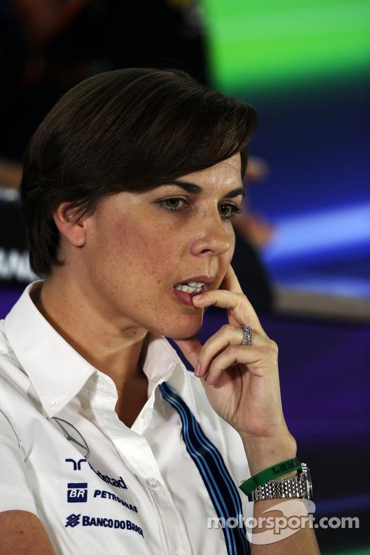 Claire Williams, Williams Yardımcı Takım Patronu FIA Basın Konferansı'nda