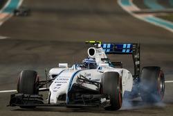 Valtteri Bottas, Williams FW36 con un bloqueo