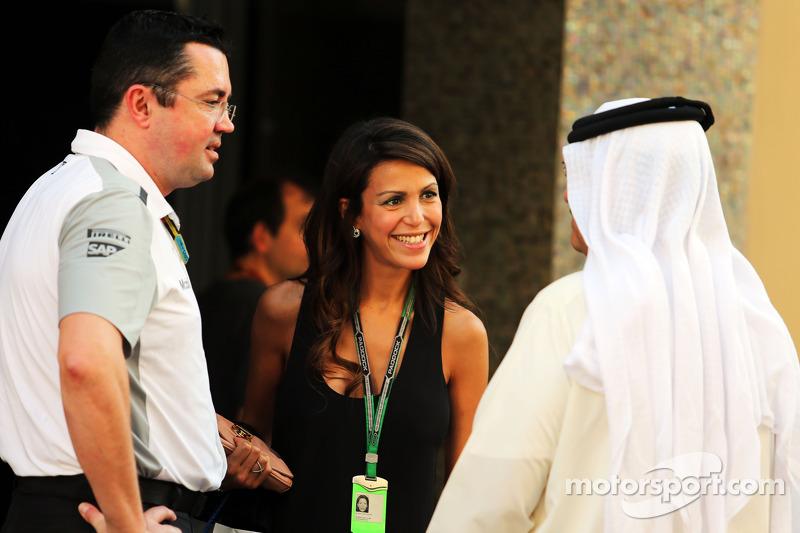 Eric Boullier, McLaren Yarış Direktörü ve eşi Tamara Boullier