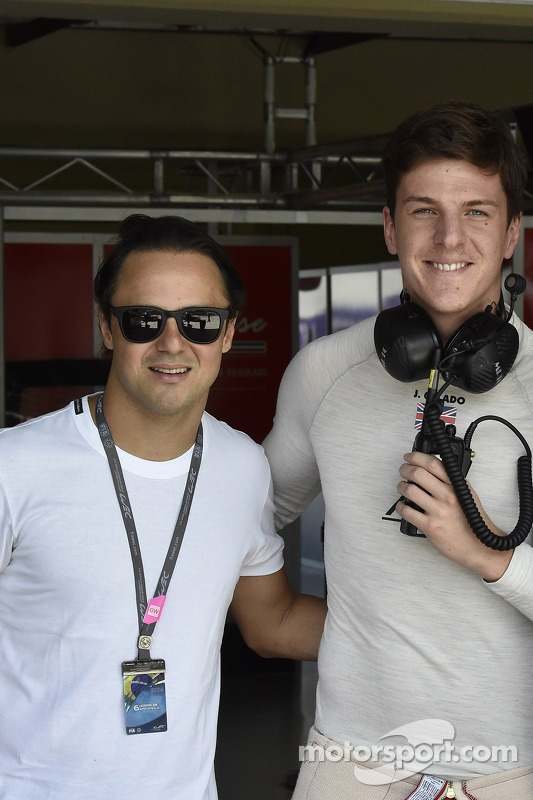 Felipe Massa and James Calado