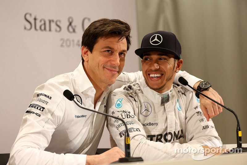 Toto Wolff and Lewis Hamilton