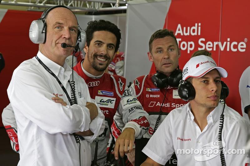 Dr. Wolfgang Ullrich, Audi Sport Başkanı, Lucas di Grassi, Tom Kristensen, Loic Duval