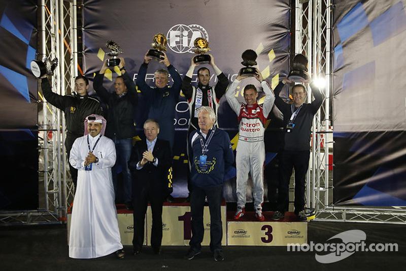 FIA karting challenge drivers podium