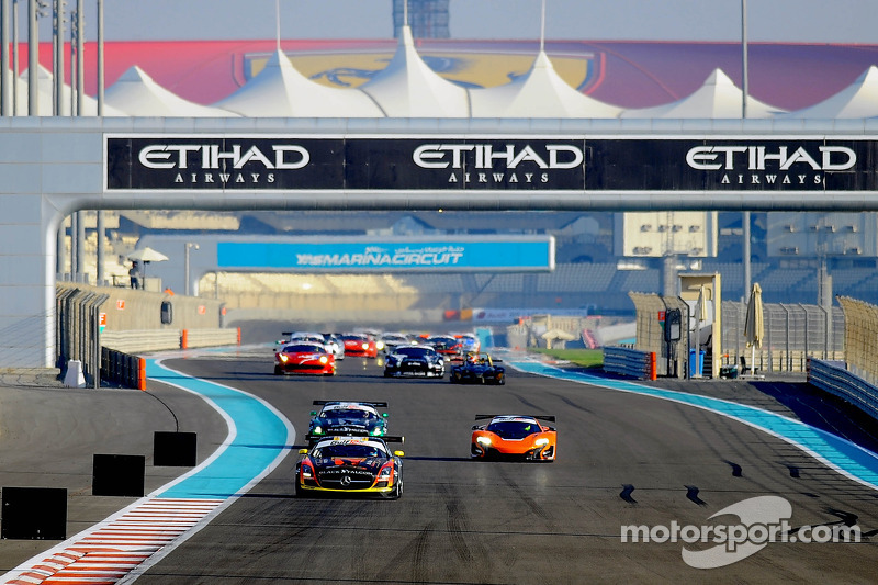 #1 Abu Dhabi Racing Black Falcon Mercedes SLS AMG GT3: Khaled Al Qubaisi, Jeroen Bleekemolen, Bernd