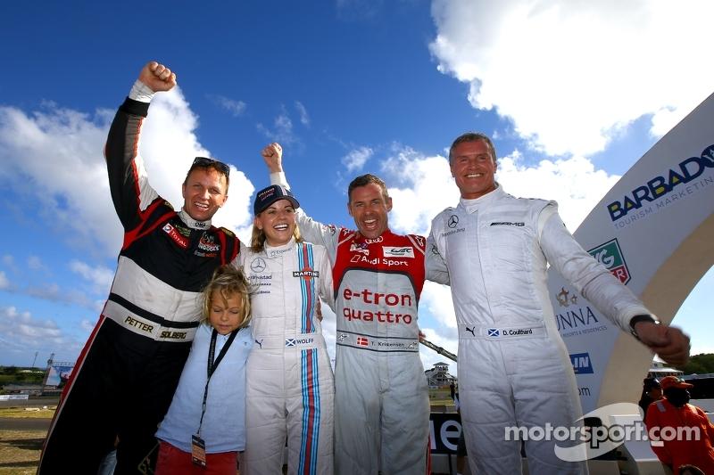 Vincitori Tom Kristensen e Petter Solberg, secondo posto Susie Wolff e David Coulthard