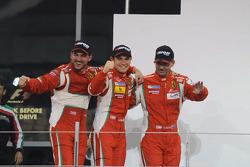Podium: winners Steve Wyatt, Michele Rugolo, Davide Rigon