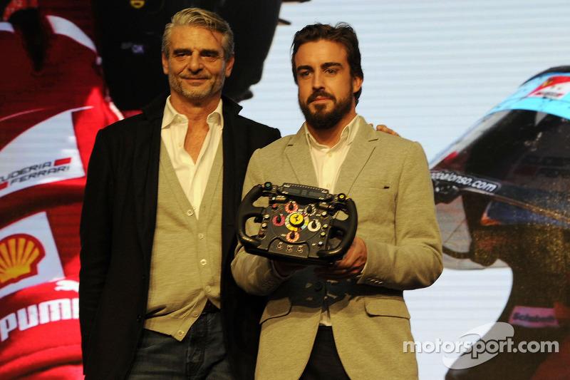 Maurizio Arrivabene et Fernando Alonso