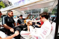 Nelson Piquet Jr., Jaguar Racing, Sébastien Buemi, Renault e.Dams, Jose Maria Lopez, Dragon Racing, on the drivers parade