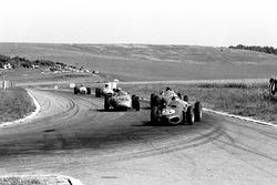 Giancarlo Baghetti, Ferrari 156 leads the Porsches 718 of Dan Gurney, and Jo Bonnier