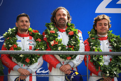 LMGTE Am podium: second place Thomas Flohr, Francesco Castellacci, Giancarlo Fisichella, Spirit of Race