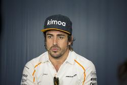 Fernando Alonso, McLaren en conférence de presse