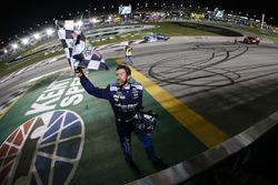 Winner Martin Truex Jr., Furniture Row Racing, Toyota Camry Auto-Owners Insurance celebrates