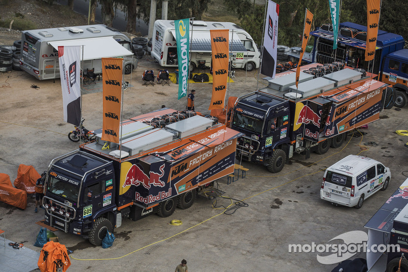 KTM factory team area