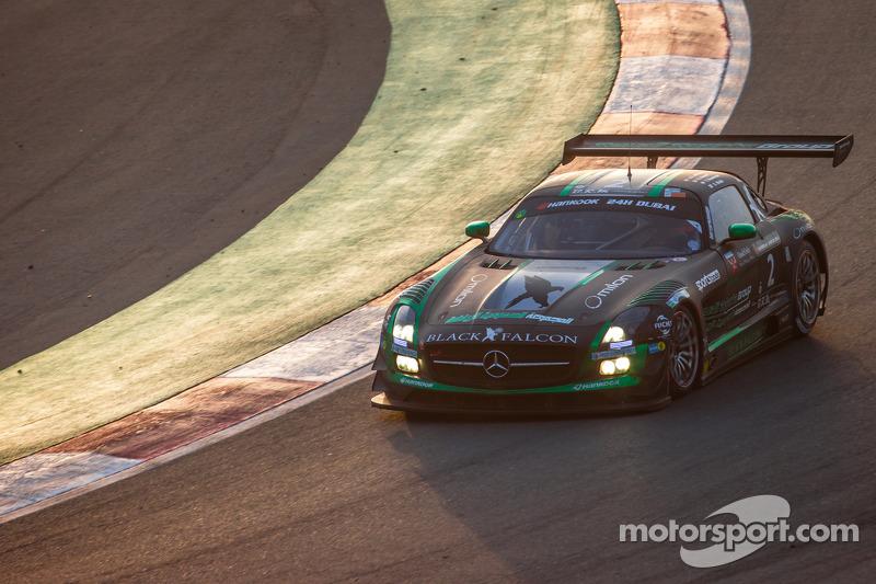 #2 Black Falcon, Mercedes SLS AMG GT3: Abdulaziz Al Faisal, Hubert Haupt, Yelmer Buurman, Oliver Webb