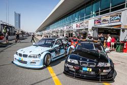 #77 JR Motorsport BMW E46 GTR and #78 JR Motorsport BMW E46 GTR