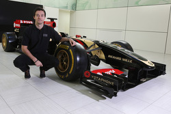 Jolyon Palmer with the Lotus F1