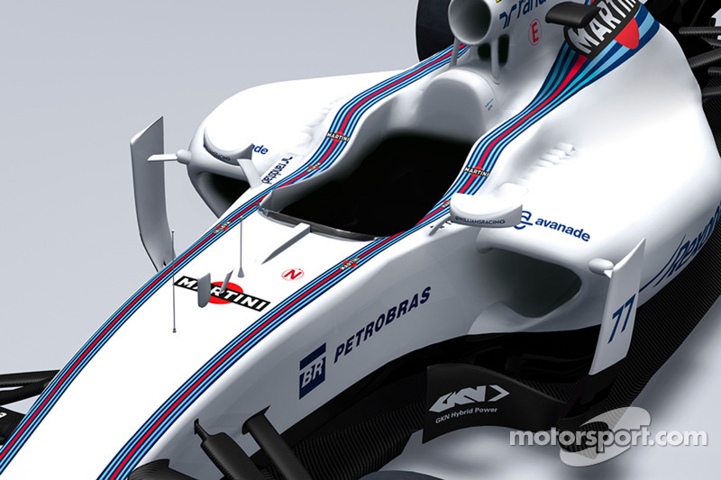 Detail vom neuen Williams FW37