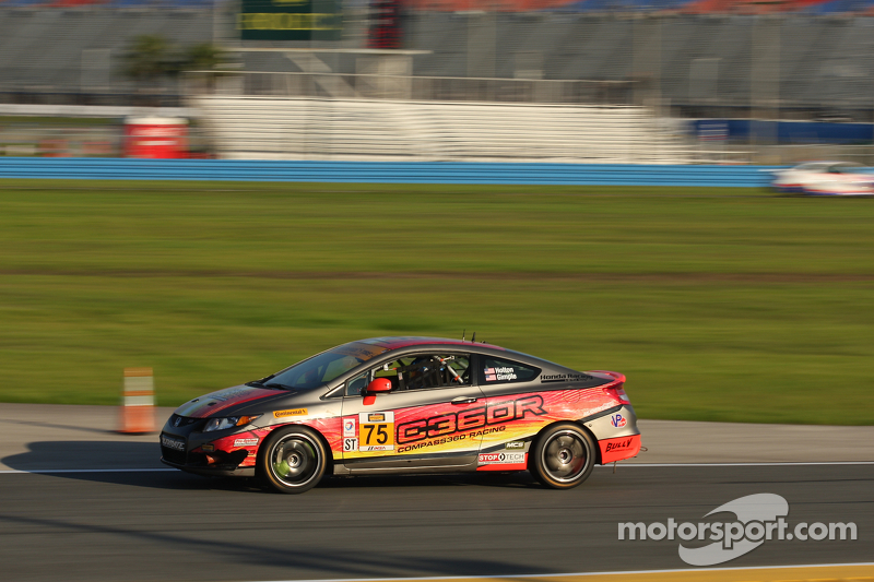 #75 Compass360 Racing Honda Civic Si: Paul Holton, Kyle Gimple