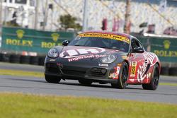 #88 Rebel Rock Racing Porsche Cayman: Jim Jonsin, Erik Valdez