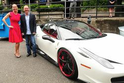 Reiko MacKenzie and Jacques Villeneuve