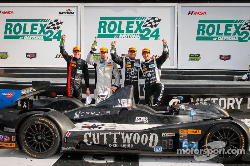 PC-Podium: #52 PR1 Mathiasen Motorsports, Oreca FLM09: Mike Guasch, Andrew Novich, Andrew Palmer, Tom Kimber-Smith