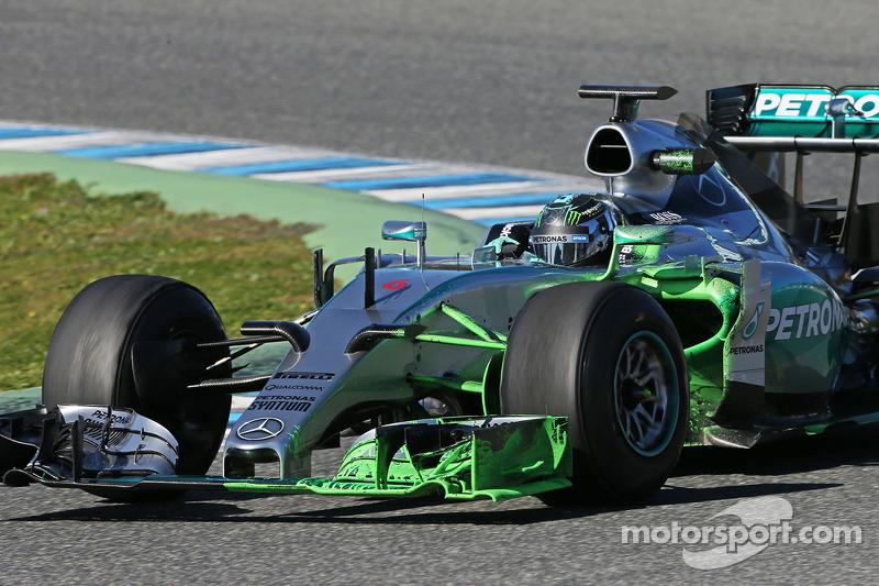Ніко Росберг, Mercedes AMG F1 W06 працює з флуоресцентною фарбою