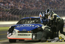 Mark Martin in the pit