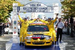 Finish podium: Xavier Pons and Oriol Julia
