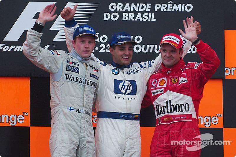 2004: 1. Juan Pablo Montoya, 2. Kimi Räikkönen, 3. Rubens Barrichello