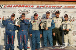 ST podium: class winners Bob Beede and Bob Endicott, with David Haskell and Sylvain Tremblay, and Daniel Colembie and Ken Dobson
