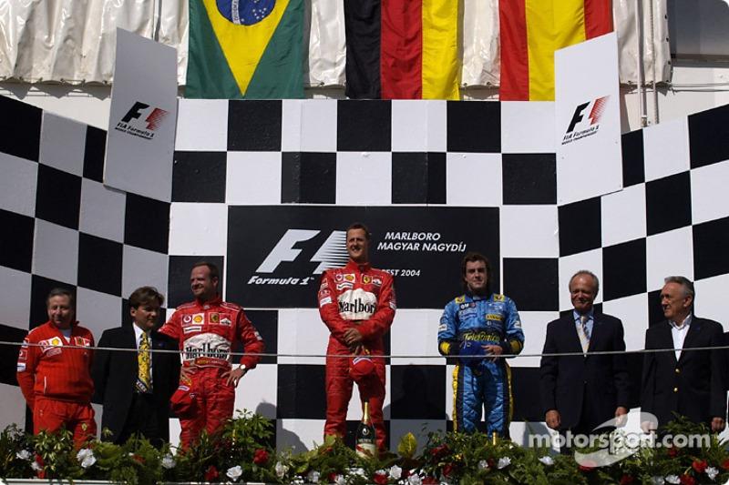 Fernando Alonso, 3º en el GP de Hungría 2004