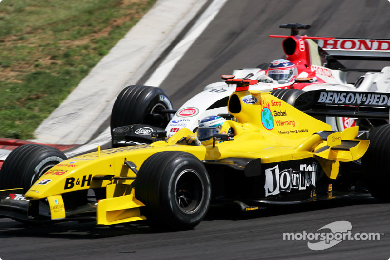 Nick Heidfeld and Takuma Sato