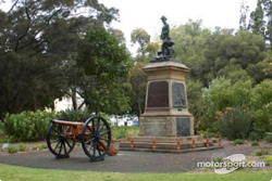 Monument on a square in Perth