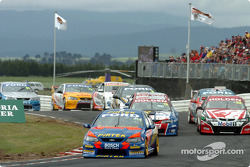 The field gets of the grid without incident