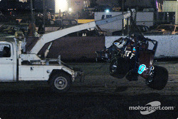 La voiture détruite de Leighton Crouch