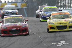 #49 Southpaw Racing Mazda RX-8: Mark Eaton, Frank Howard, #65 SpeedSource Mazda RX-8: Selby Wellman, Nick Fanelli