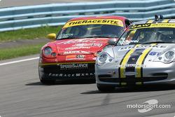#44 The Race Site.com Porsche 996: Craig Stanton, David Murry, #81 G&W Motorsports Porsche 996: Tracy Krohn, Joe Fox