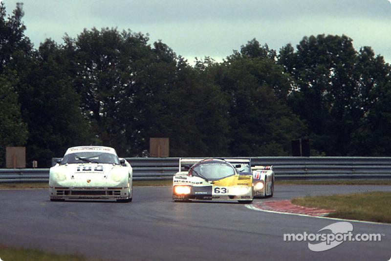 #180 Porsche AG Porsche 961: René Metge, Claude Ballot-Léna, #63 Ernst Schuster Porsche 936 CJ: Siegfried Brunn, Ernst Schuster, Rudi Seher