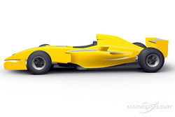 Rendering of the Formula Renault 3.5 single seater to compete in the 2005 World Series by Renault championship