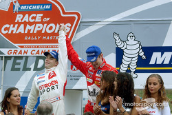 Sébastien Loeb won the 2003 Race of Champions in front of Marcus Gronholm